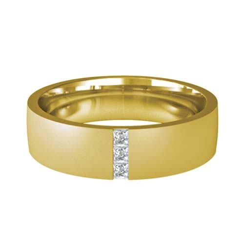 Patterned Designer Yellow Gold Wedding Ring - Prezioso