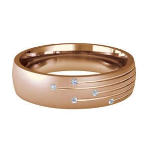 Patterned Designer Rose Gold Wedding Ring - Motum