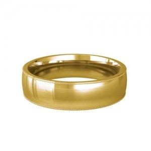 Patterned Designer Yellow Gold Wedding Ring - Felicita