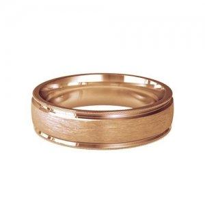 Patterned Designer Rose Gold Wedding Ring - Siempre