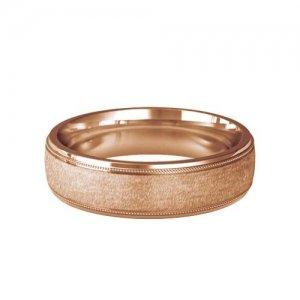 Patterned Designer Rose Gold Wedding Ring - Attrarre
