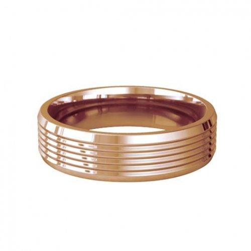 Patterned Designer Rose Gold Wedding Ring - Armonice