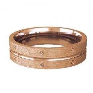 Patterned Designer Rose Gold Wedding Ring - Amitie