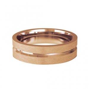 Patterned Designer Rose Gold Wedding Ring - Amore