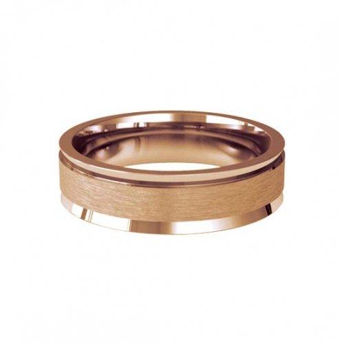 Patterned Designer Rose Gold Wedding Ring - Fiore