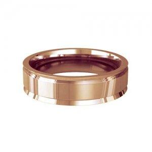 Patterned Designer Rose Gold Wedding Ring - Insieme