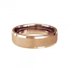 Patterned Designer Rose Gold Wedding Ring - Soleil