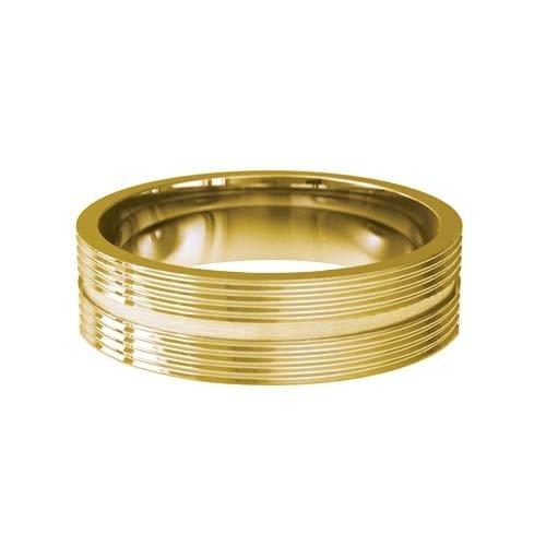 Patterned Designer Yellow Gold Wedding Ring - Orbite