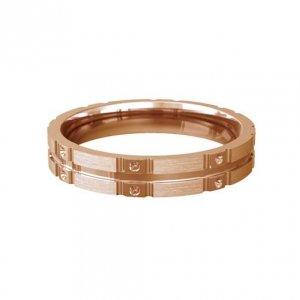 Patterned Designer Rose Gold Wedding Ring - Similie