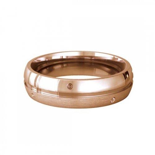 Patterned Designer Rose Gold Wedding Ring - Lumiere
