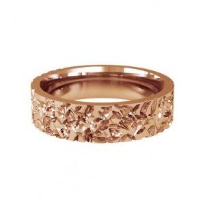 Patterned Designer Rose Gold Wedding Ring - Abrazo