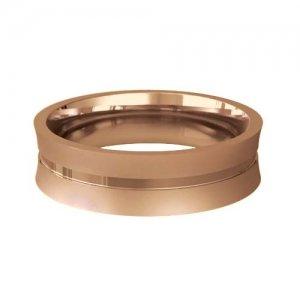 Patterned Designer Rose Gold Wedding Ring - Cara