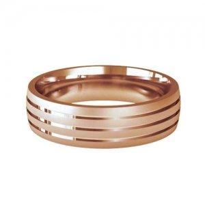Patterned Designer Rose Gold Wedding Ring - Foveo