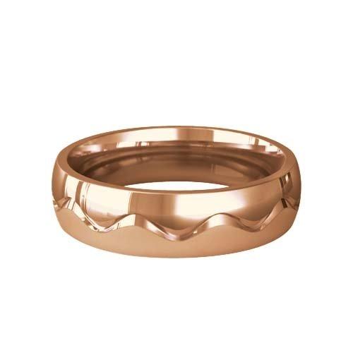 Patterned Designer Rose Gold Wedding Ring - Desir