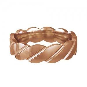Patterned Designer Rose Gold Wedding Ring - Tenere