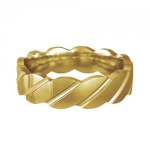 Patterned Designer Yellow Gold Wedding Ring - Tenere