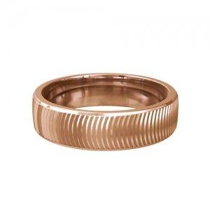 Patterned Designer Rose Gold Wedding Ring - Sesso