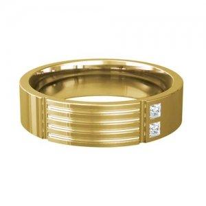 Patterned Designer Yellow Gold Wedding Ring - Extollo