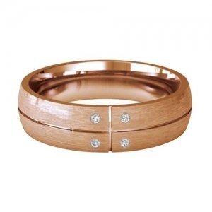 Patterned Designer Rose Gold Wedding Ring - Solido