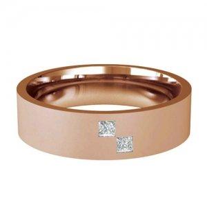 Patterned Designer Rose Gold Wedding Ring - Querido