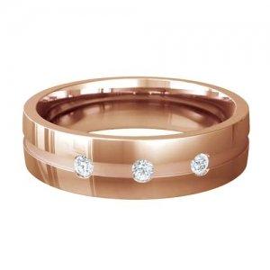 Patterned Designer Rose Gold Wedding Ring - Belleza