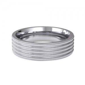 Special Designer Platinum Wedding Ring Contineo (Plat or Pall)