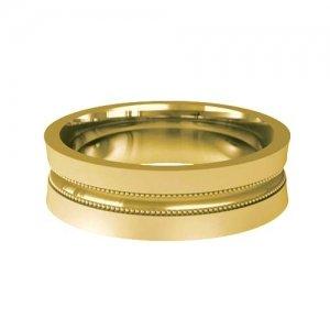 Patterned Designer Yellow Gold Wedding Ring - Valorar