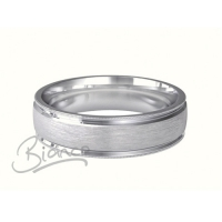 Siempre D Shape Wedding Ring 4 to 6mm Platinum Heavy