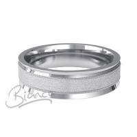 Patterned Designer White Gold Wedding Ring - Deseo