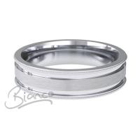 Patterned Designer White Gold Wedding Ring - Espacio