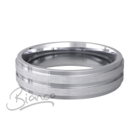 Patterned Designer White Gold Wedding Ring - Miele