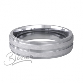 Miele Flat Court Wedding Ring Width 6mm Platinum