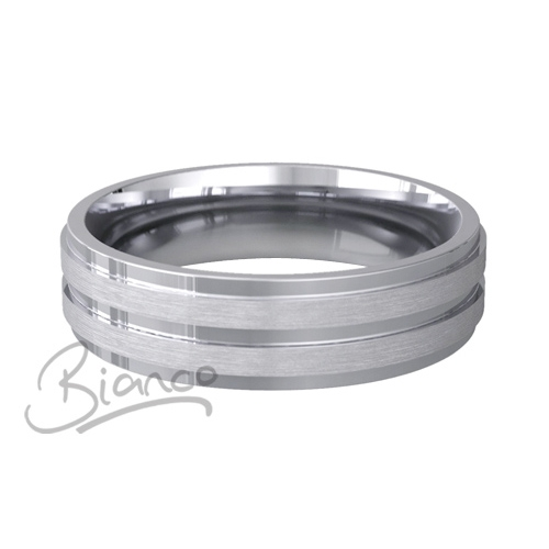 Special Designer Platinum Wedding Ring Miele (Plat or Pall)