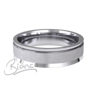 Fiore Flat Court Wedding Ring 4mm to 6mm Platinum