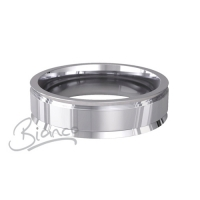Patterned Designer White Gold Wedding Ring - Insieme