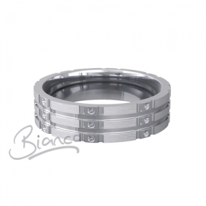 Patterned Designer White Gold Wedding Ring - Stelle