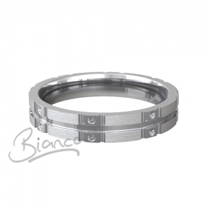 Patterned Designer White Gold Wedding Ring - Similie