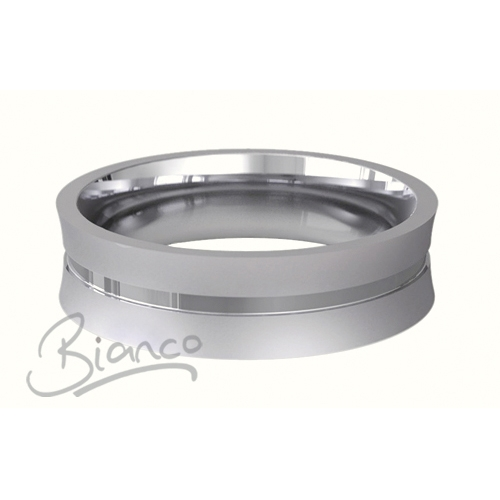 Cara 3 to 6mm  Flat Court Palladium Wedding Ring