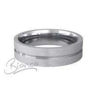 Patterned Designer White Gold Wedding Ring - Carezza