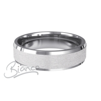 Patterned Designer White Gold Wedding Ring - Dilectio