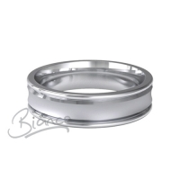 Special Designer Palladium Wedding Ring Caresse