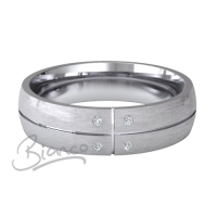 Patterned Designer Palladium Wedding Ring Solido