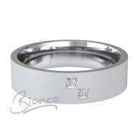 Patterned Designer White Gold Wedding Ring - Querido