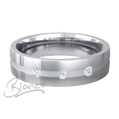 Platinum Court Diamond Wedding Rings Belleza Pattern 4 to 6mm