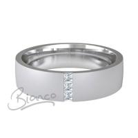 Prezioso 4 to 6mm Flat Court 9ct White Gold Diamond Wedding Ring