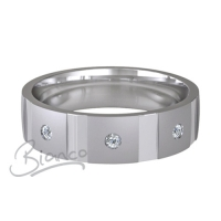 Special Designer Platinum Wedding Ring Contatto (Plat or Pall)