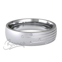 Patterned Designer White Gold Wedding Ring - Motum