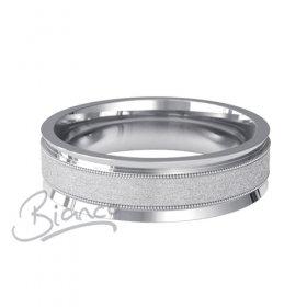 Patterned Designer Platinum Wedding Ring Deseo