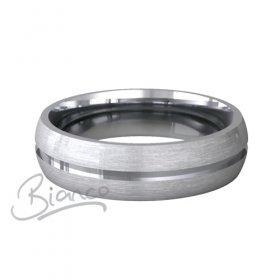Patterned Designer Platinum Wedding Ring Luna