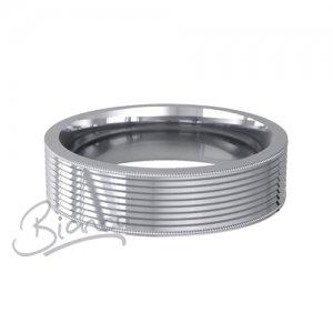 Devotio Flat Court Wedding Ring 4 to 6mm Platinum